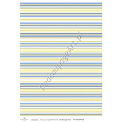 Papier do decoupage ITD SOFT 018 - Kolorowe paski