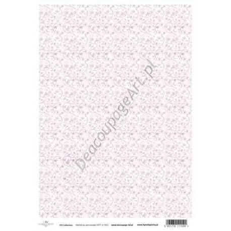 Papier do decoupage ITD SOFT 021 - Drobne różowe kwiatuszki