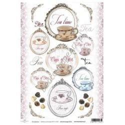 Papier do decoupage ITD SOFT 023 - Herbata