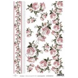 Papier do decoupage ITD SOFT 024 - Róże