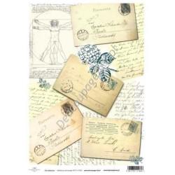 Papier do decoupage ITD SOFT 026 - Stare kartki