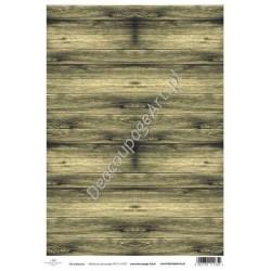 Papier do decoupage ITD SOFT 037 - Zielone deski