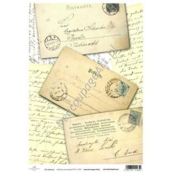 Papier do decoupage ITD SOFT 027 - Stare listy