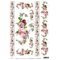 Papier do decoupage ITD SOFT 036 - Róże