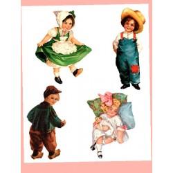 Kalkomania Arte - Cztery dzieciaczki