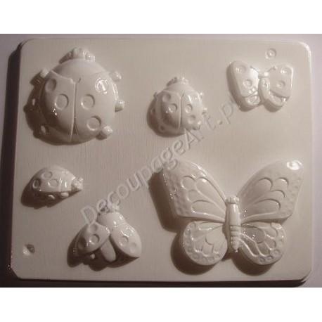 Foremka do odlewów gipsowych 03 Motyle i biedronki