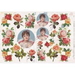 Papier Calambour SDS 09 - Róże i damy
