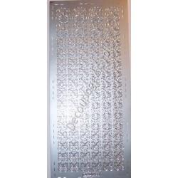 Naklejki samoprzylepne 485 serduszkowe 2 srebrne