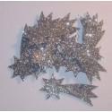 Komety z mikrogumy brokatowej - srebrne