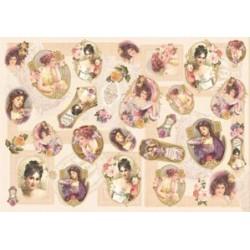 Papier ryżowy Renkalik do decoupage 239 Romantic ladies