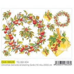 Papier Artistico Mini Christmas Garlands & Greeting Cards25X35 0