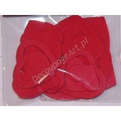 Serca z mikrogumy czerwone