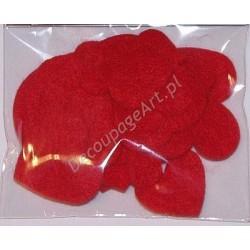 Serca z filcu czerwone