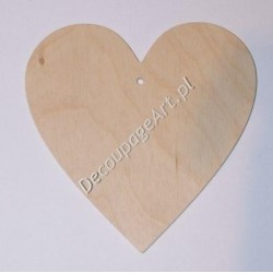Zawieszka ze sklejki serce 002