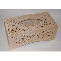 Pudełko na chusteczki ażurowe 03