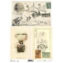 Papier do decoupage ITD SOFT 050 - Balony i pocztówki