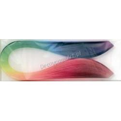 Paski do quillingu cieniowane 100szt. 5mm/50cm kolory tęczy