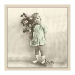 Serwetka do decoupage Girl With Flowers
