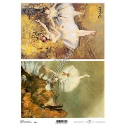 Papier do decoupage ITD SOFT 063 - Malarstwo Degas