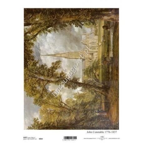 Papier do decoupage ITD SOFT 064 - Malarstwo Constable