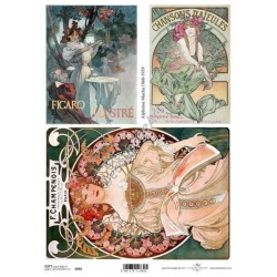 Papier do decoupage ITD SOFT 092 - A. Mucha