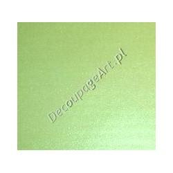 Bibułka gładka perłowa zielona