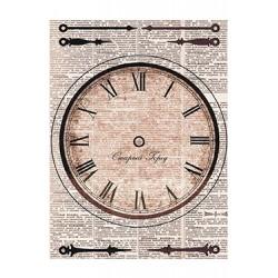 Papier Ryżowy Cadence 019 Zegar i pismo