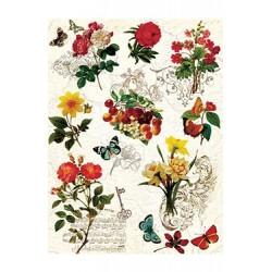 Papier Ryżowy Cadence 041 Kwiaty