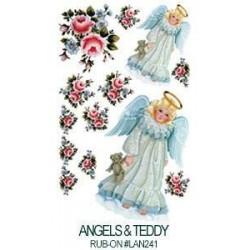 Kalkomania artystyczna - Angel & Teddy