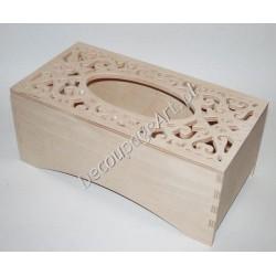 Pudełko na chusteczki ażurowe 04