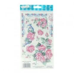 Kalkomania artystyczna - Pink Roses