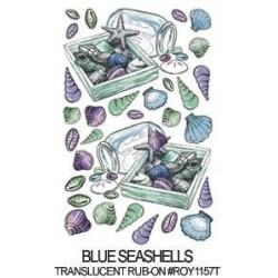 Kalkomania artystyczna dwustronna na szkło - Blue Seashells