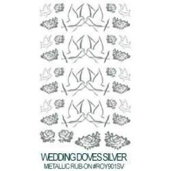 Kalkomania artystyczna - Wedding Doves Silver