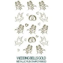 Kalkomania artystyczna - Wedding Bells Gold