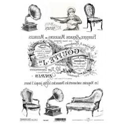 Papier do transferu ITD Classic 007 Gramofony, kanapy