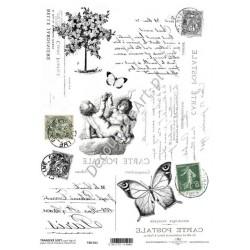Papier do transferu ITD Classic 011 Anioły i pismo