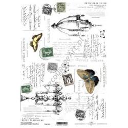 Papier do transferu ITD Classic 012 Znaczki i motyle