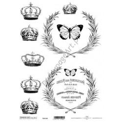 Papier do transferu ITD Classic 016 Korony i motyle