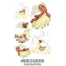 Kalkomania artystyczna - Angels and Bows