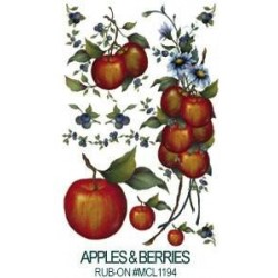 Kalkomania artystyczna - Apples & Blueberries