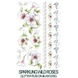 Kalkomania artystyczna lśniąca - Sparkling Wild Roses