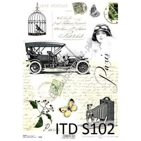 Papier do decoupage ITD SOFT 102 - Paryż