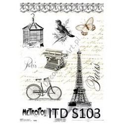 Papier do decoupage ITD SOFT 103 - Paryż