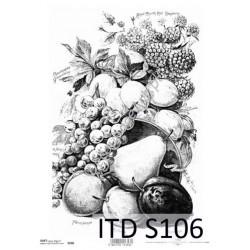 Papier do decoupage ITD SOFT 106 - Owoce