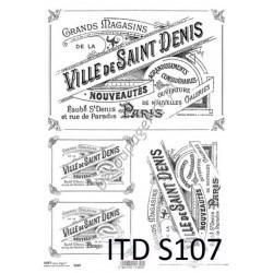 Papier do decoupage ITD SOFT 107 - Etykiety