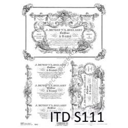 Papier do decoupage ITD SOFT 111 - Etykiety
