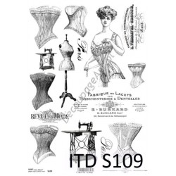 Papier do decoupage ITD SOFT 109 - Gorsety