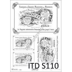 Papier do decoupage ITD SOFT 110 - Etykiety