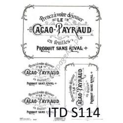 Papier do decoupage ITD SOFT 114 - Etykiety