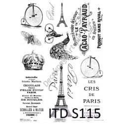 Papier do decoupage ITD SOFT 115 - Paris